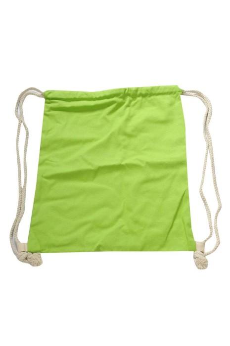 DWG023 下單訂做索繩袋 100%滌 螢光綠帆布袋 索繩袋生產商    #12*16cm