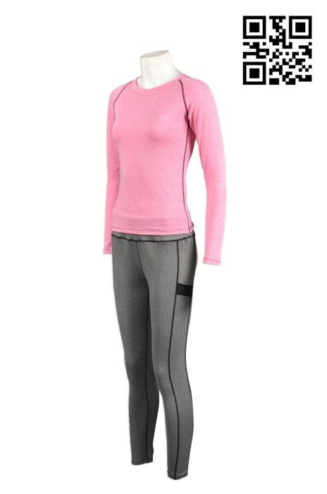TF001訂製緊身運動套裝 設計女裝運動服 訂購團體跑步運動服 訂做緊身運動衫專門店HK