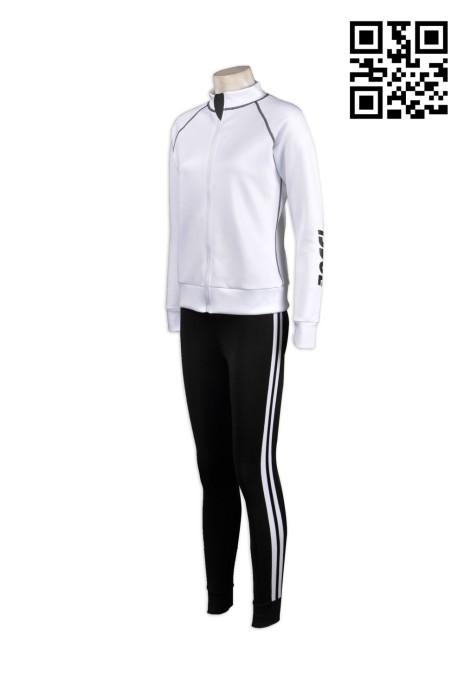 TF004訂製運動套裝 自製團體運動服 設計緊身運動套裝款式  訂購跑步運動套裝公司 緊身運動裝專門店HK