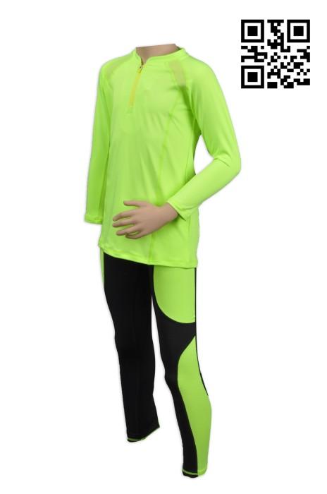 TF005訂製運動套裝 訂做緊身運動套  螢光運動套服 來樣訂做運動套裝製造商HK