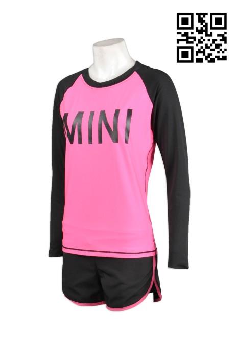 TF009訂製緊身運動衫  設計個性運動短褲  自製緊身運動裝  跑步運動服搭配 緊身運動衫專門店