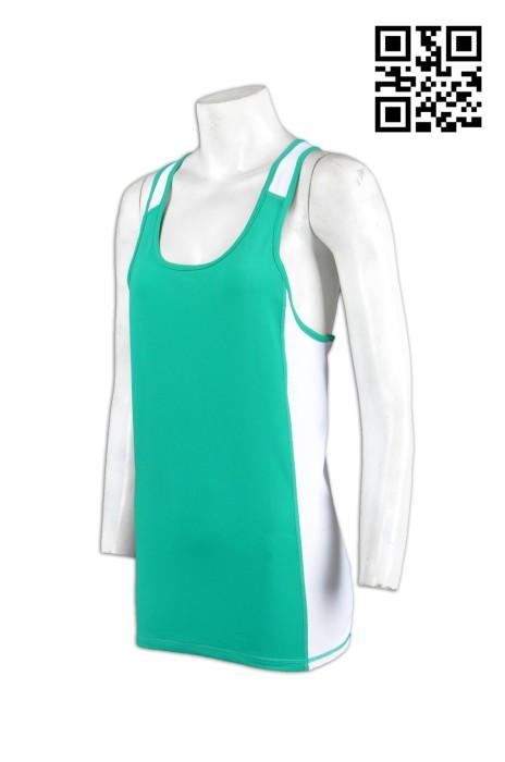 TF010緊身運動背心 訂製團體跑步背心 來樣訂購緊身運動背心  設計背心款式  緊身運動背心專門店HK