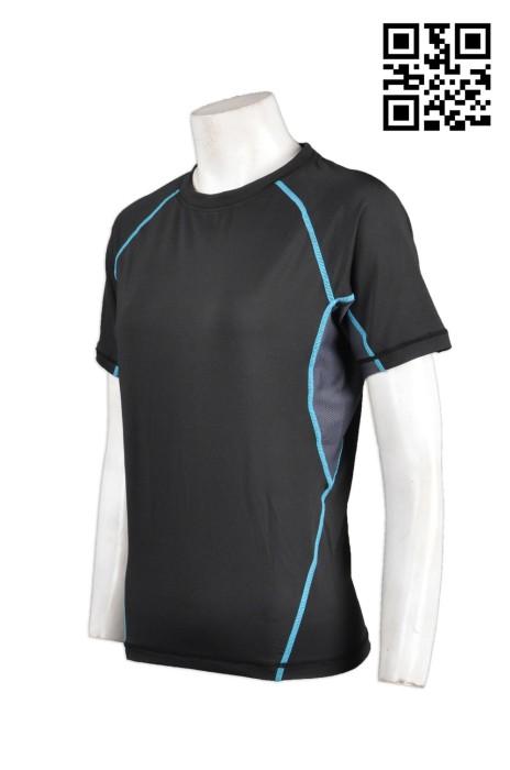 TF011訂製短袖緊身運動衫  設計運動T恤款式  訂購跑步緊身衫 運動短袖衫專門店HK
