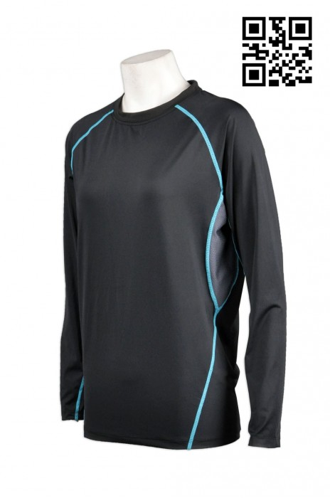 TF013訂購團體跑步運動衫 來樣訂製緊身運動長袖衫 防晒衣 防曬衫 防UV 衫 設計運動衫款式 運動衫專門店