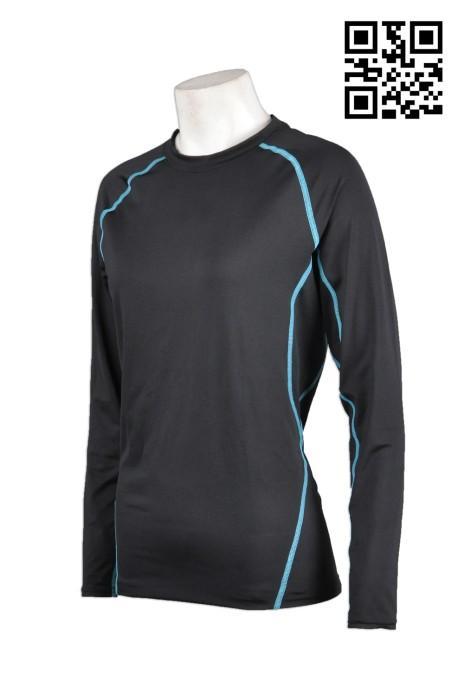 TF012訂製長袖緊身tee  團體緊身運動衫 設計緊身運動長袖  訂造緊身運動衫批發商