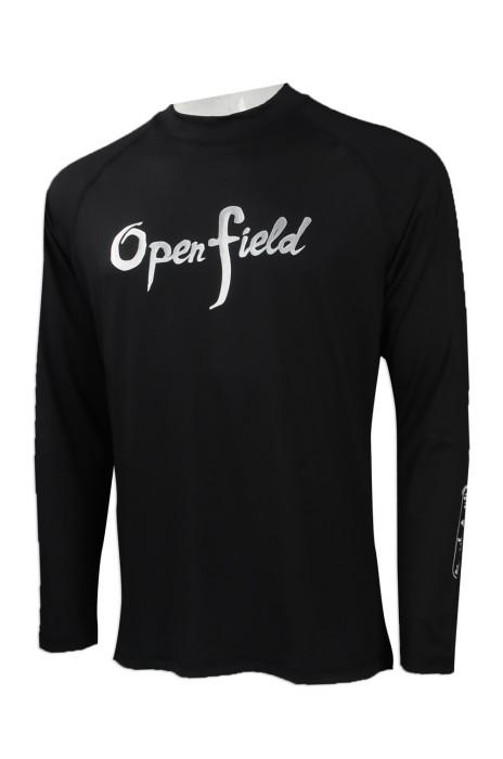 TF067 來樣訂做長袖泳衣  網上下單男款緊身游泳衣 長袖泳衣 大量訂造印花游泳衣 游泳衣製衣廠