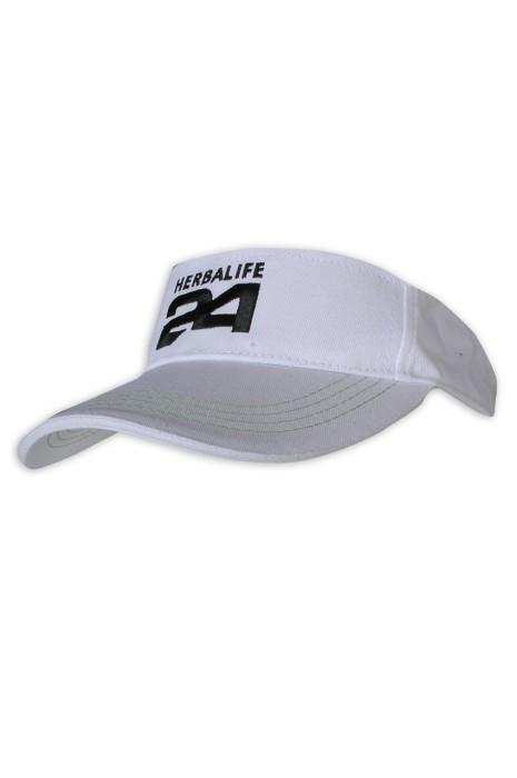HA321 制訂太陽帽 魔術貼 空頂帽款式 Logo 太陽帽生產商