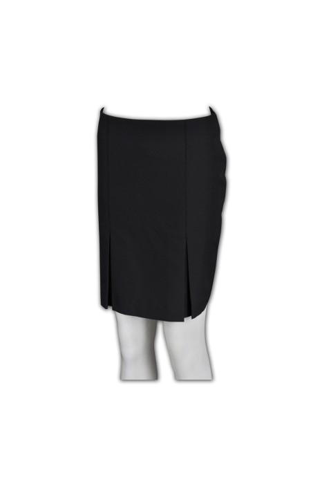 US004  訂購西裝半裙 度身訂製團褶式半裙 定制西裙 供應商批發