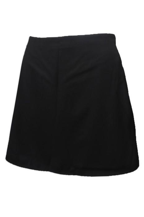 US010 製造黑色女裝拉鏈西裙 西裙製衣廠