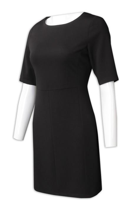 US012  設計修身中袖直身裙 供應時尚女裝西裝裙  直身裙製造商