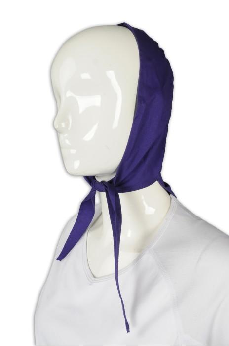 HA320 製作淨色頭巾 綁帶式頭巾 頭巾專門店