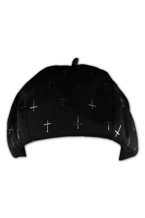 HA233  毛呢西瓜帽  訂製金線繡花畫家帽   藝術款畫家帽   畫家帽生產商