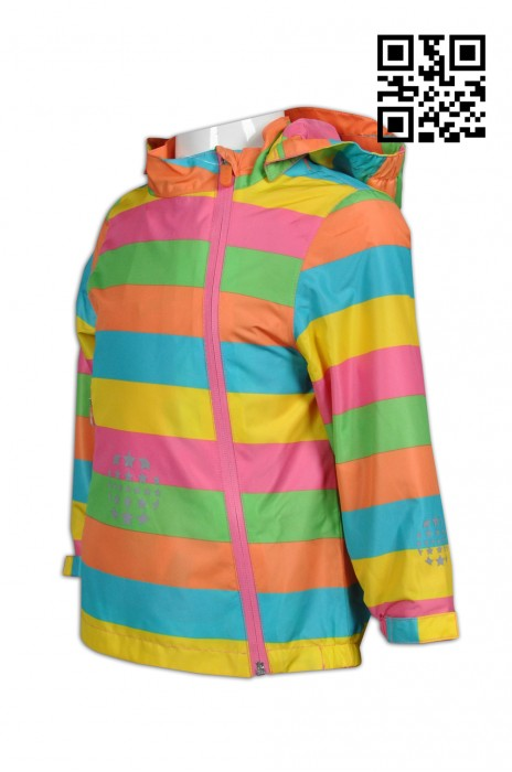 J600 製造彩色兒童風褸外套  供應個性兒童風褸  側開拉鍊款 設計時尚風褸外套  風褸製衣廠