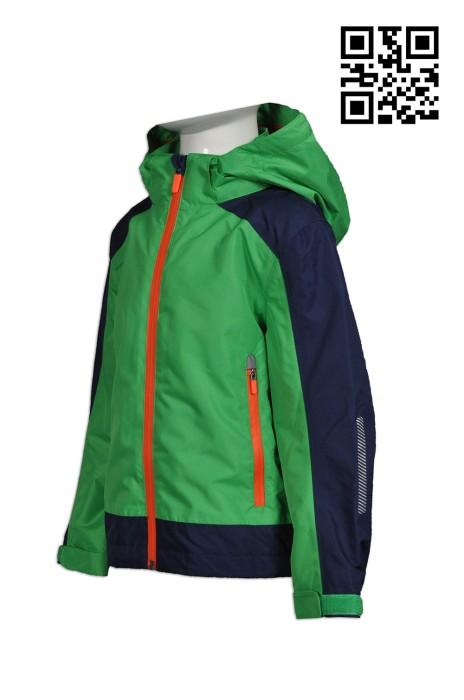 J598 訂做個人兒童風樓外套  自定反光風樓外套   訂購大量兒童風樓外套  風樓外套中心