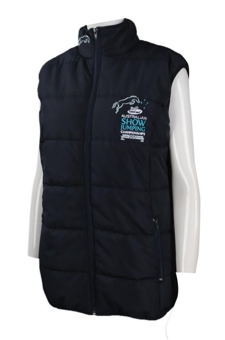 J757 網上下單夾棉背心外套 設計夾棉背心外套 澳洲 TFS 夾棉背心外套製衣廠