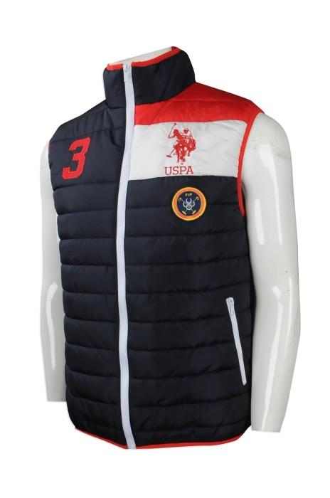 J761 度身訂做夾棉背心外套 大量訂購夾棉背心外套款式 澳洲 TFS 間棉背心 夾棉背心外套專營店