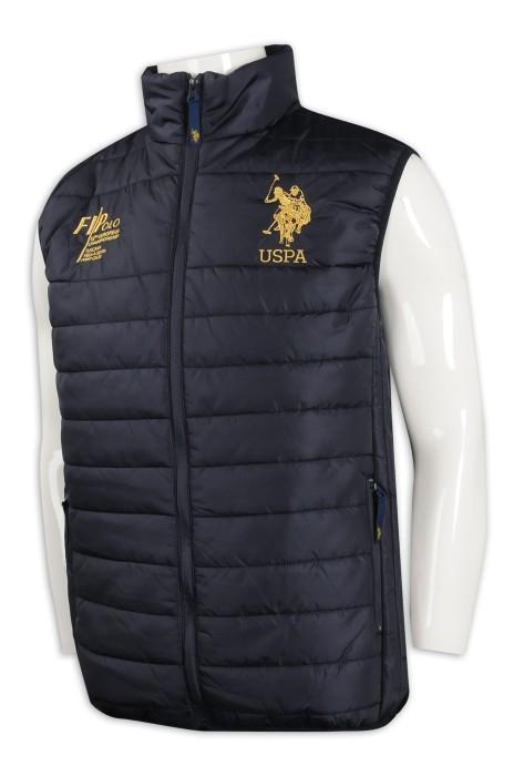 J833 設計羽絨背心外套 馬術運動 澳洲 TFS 夾棉背心外套生產商