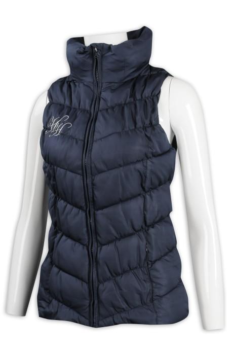 J836 訂製無袖羽絨背心外套 高領 100%尼龍 澳洲 HH 羽絨外套專門店
