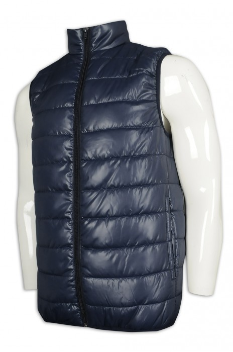 J866 訂製無袖羽絨背心外套  繡花logo 零售商 員工制服 羽絨外套生產商