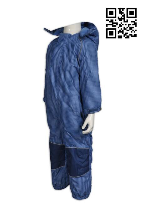 J599來樣製造條紋2合1風樓   自訂休閒連帽2合1風樓 橫間連身外套 一件過童裝 兒童兩件套 內層搖粒絨  訂印2合1風樓  二合一羽絨外套 風樓外套制服公司
