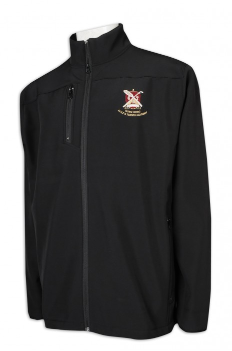J875 製作複合布外套 幼袖口車邊設計 衫身 側袋 香港網球學院 高爾夫球 二合一風褸外套專門店