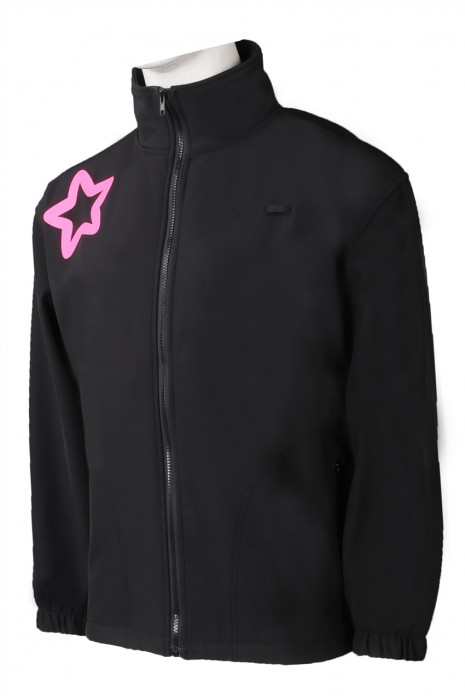 J886 訂製複合拉鏈外套 時尚黑色複合外套 複合外套生產商