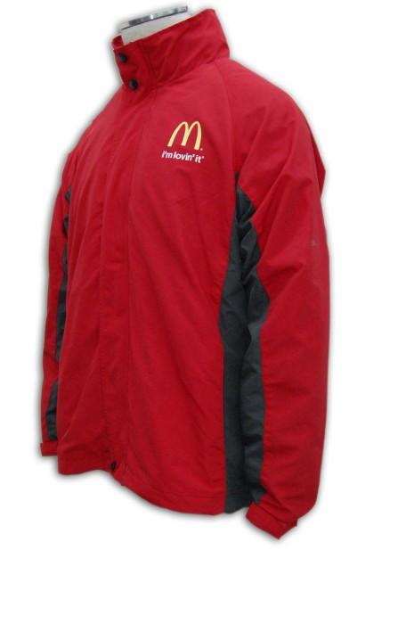 J023 麥當勞制服風褸訂製 麥當勞制服風褸印製 風褸批發