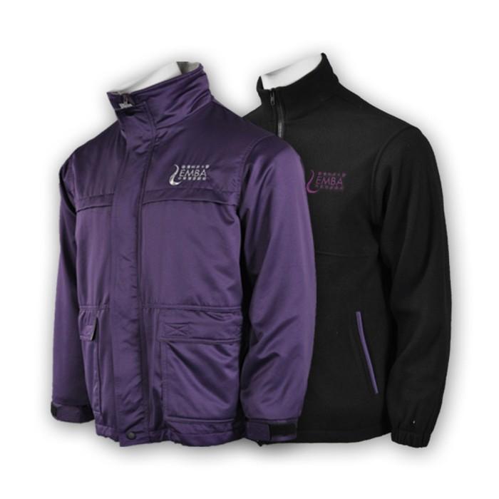 J542設計兩件套外套 訂製兩用校服外套 大學宿舍 大學行政制服 網上下單風褸外套 外套制服公司