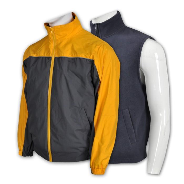 J605訂做舒適風樓外套   訂製拼色風樓外套款式  筆插 名牌扣 設計 自訂風樓外套款式   風樓外套製造商
