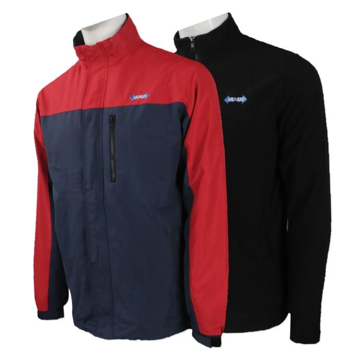 J746 訂製兩件套風褸 設計拼色風褸外套款式 澳門 傑納斯保安 風褸外套生產商