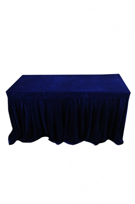 TBC043 訂做尺寸枱套  度身訂造餐桌枱套 四邊  4邊 有裙腳 設計簽到枱套  枱套專門店  金絲絨  135cm*64cm*74cm