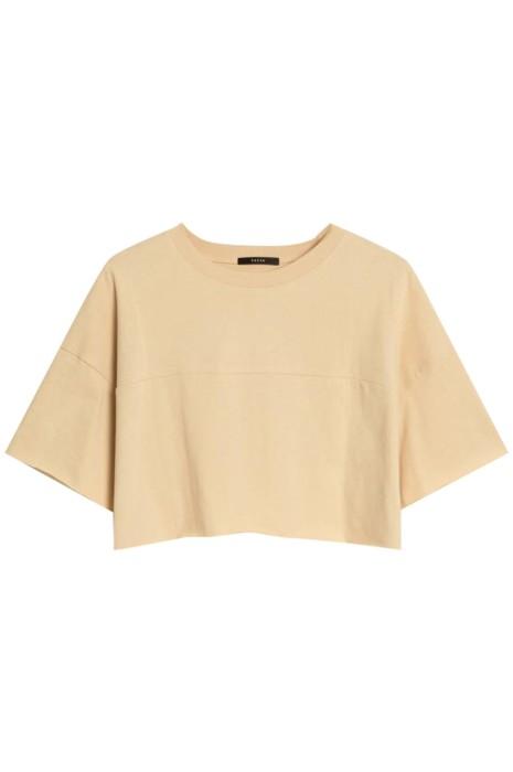 SKT034 製造淨色素面短袖T恤 設計圓領短袖t恤 短袖T恤生產商