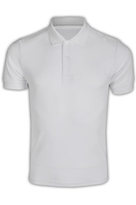 純色 白色001短袖男裝Polo恤 1AC03  純色polo恤 DIY polo恤 T恤價格