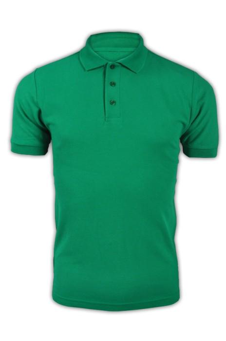 純色 正綠色064短袖男裝Polo恤 1AC03  DIY純色polo恤 休閒配搭polo恤 polo恤批發商 T恤價格