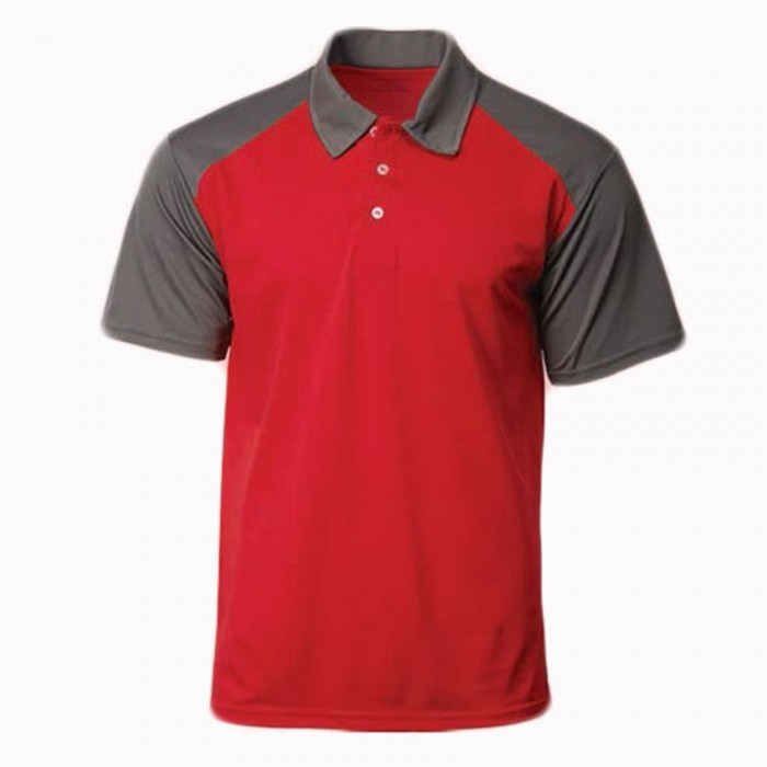 SKP008  MY-PrintLF 訂購男女POLO衫  製造運動Polo衫    Polo恤製衣廠    撞色肩,袖   馬來西亞出貨   CRP2100