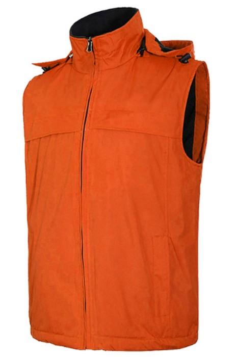 SKV009 設計戶外抓絨馬甲 沖鋒衣背心 抓絨軟殼男女馬夾  保暖背心外套製衣廠