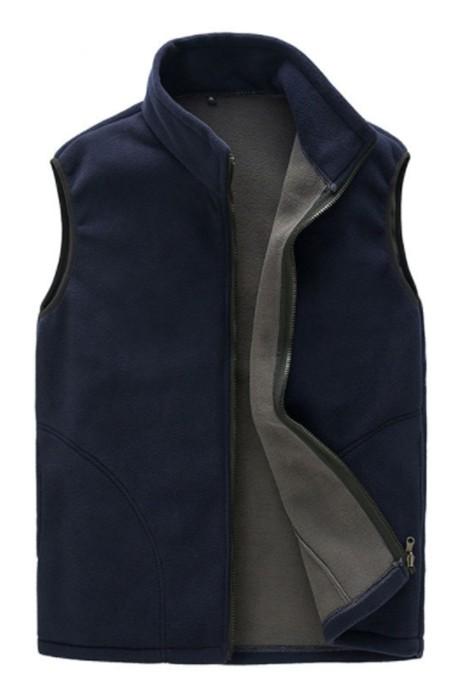 SKV015 製造戶外抓絨背心馬甲外套  男女款 設計保暖背心馬甲外套 拉鏈 背心外套中心