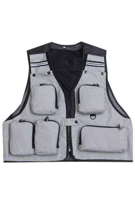 SKV016 訂製拉鏈背心外套 設計戶外釣魚馬甲 導演戶外馬甲 攝影師馬甲外套 背心外套中心
