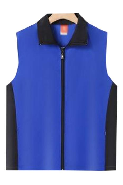 SKV019  製造拼色志願者背心外套  訂製隱形拉鏈袋口戶外廣告 推廣活動背心外套  背心外套供應商