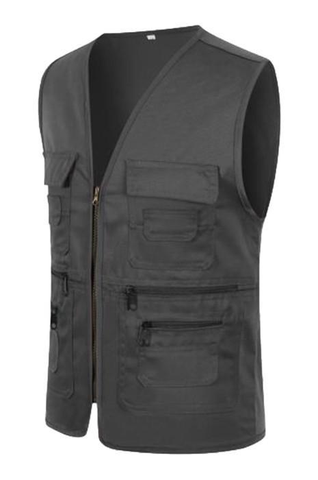 SKV027  製造多袋口戶外背心外套  個人設計戶外釣魚 導演 攝影師 記者背心馬甲外套  背心馬甲外套供應商