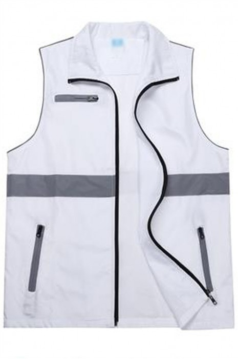SKV030 大量訂製拉鏈反光背心外套 設計拉鏈口袋工作服 義工活動 反光背心外套供應商