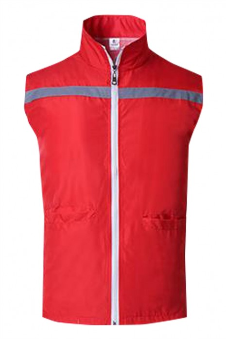 SKV033  個人設計超市反光帶工作服   訂製推廣活動風衣工作服  工作服生產商