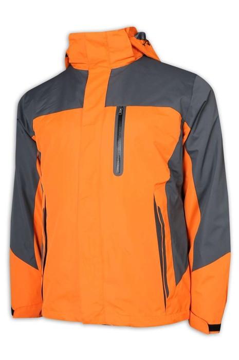 SKJ028 訂做風褸外套 兩件套 衝鋒衣 進口魔術貼 防水提花面料 無縫壓膠口袋 透氣網眼 風褸外套製造商