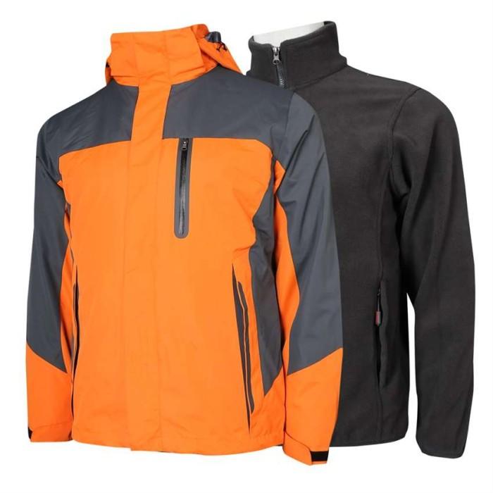 SKJ028 C01 訂做風褸外套 兩件套 衝鋒衣 進口魔術貼 防水提花面料 無縫壓膠口袋 透氣網眼 風褸外套製造商