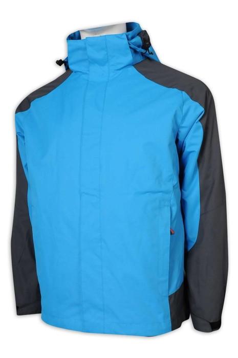 SKJ029 自訂風褸外套 可拆卸兩件套 衝鋒衣 下擺可調節 防水 魔術貼 透氣網眼 風褸外套生產商