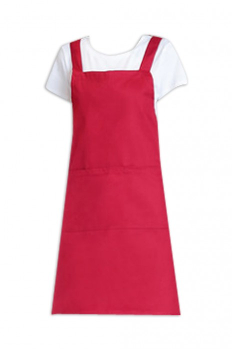 SKAP041 廚房服務員純棉圍裙 做飯工作服 H型圍裙 女男防水圍裙 圍裙hk中心