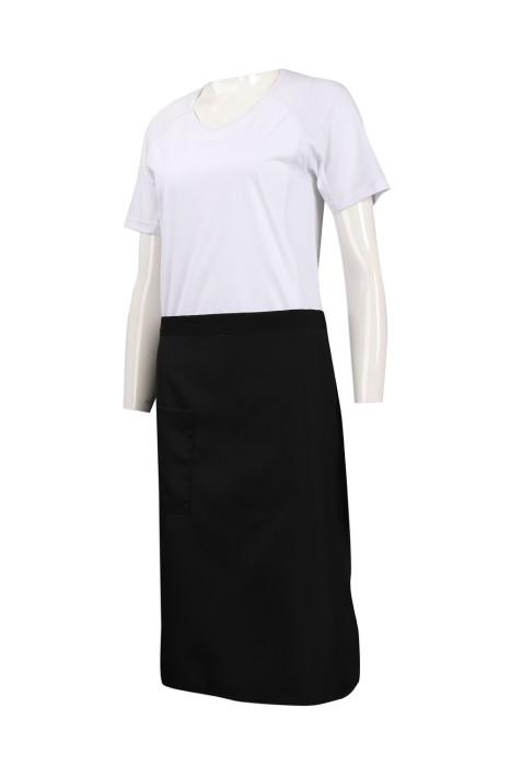SKAP043 訂做黑色半身圍裙 員工專用 理髮師 髮型設計師圍裙 圍裙製衣廠