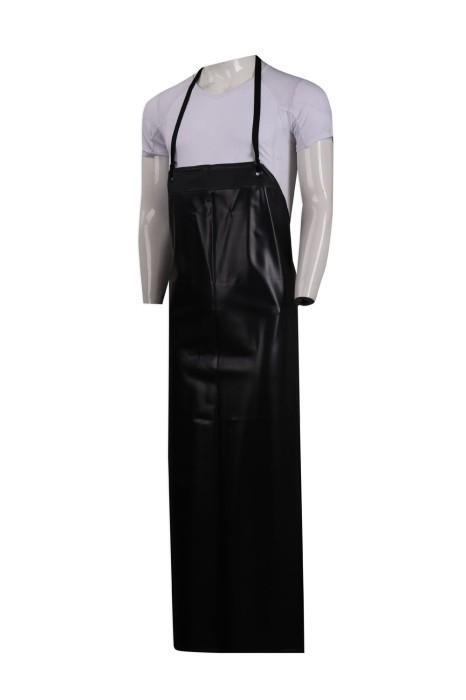 SKAP044 設計黑色全身圍裙   圍裙製造商