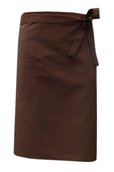 SKAP050 設計咖啡廳工作圍裙 大量訂造餐飲圍裙 圍裙製造商 前面綁帶款
