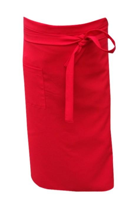 SKAP051 訂購咖啡廳半身圍裙 網上下單家居圍裙 圍裙供應商  前面綁帶款
